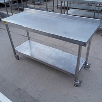 Used Bartlett B Line Stainless Steel Table	(7893)