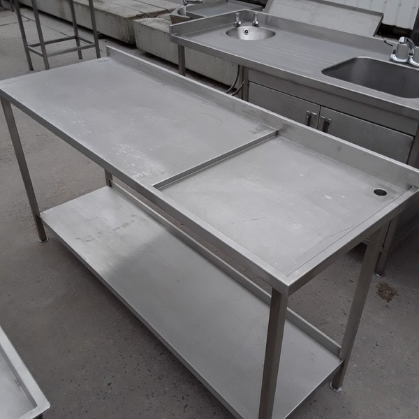 Used Stainless Steel Drainage Table (7896)