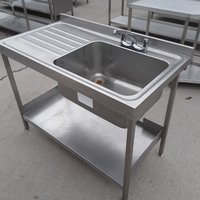 Used Stainless Steel Single Bowl Sink 1200mmW x 650mmD x 880mmH
