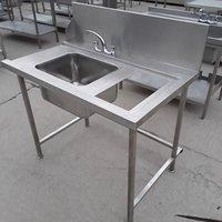 Used Stainless Steel Single Bowl Dishwasher Sink(7899)