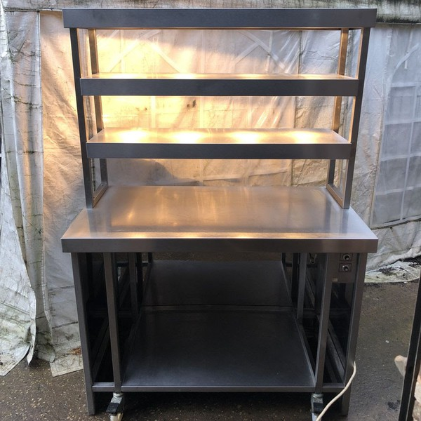 Heated gantry hot cupboard