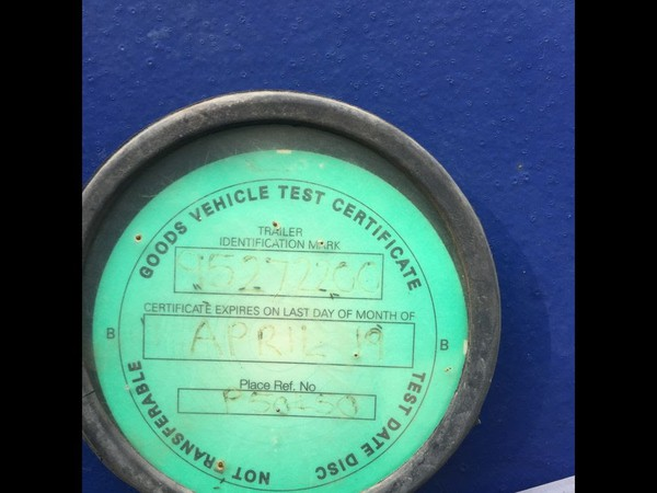 Goods vehicle test Certificate