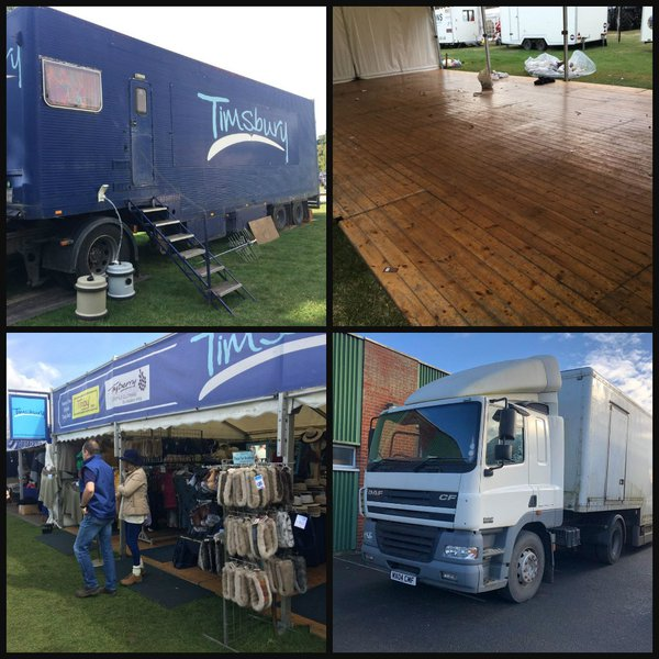 Show stand with trailer and tractor unit