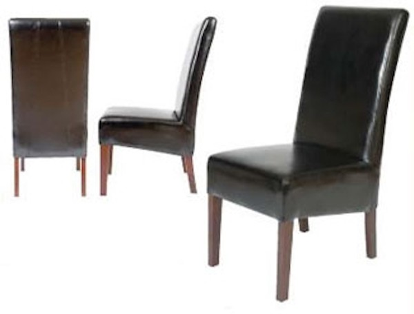 Black Faux Leather Huntingdon Side Chairs