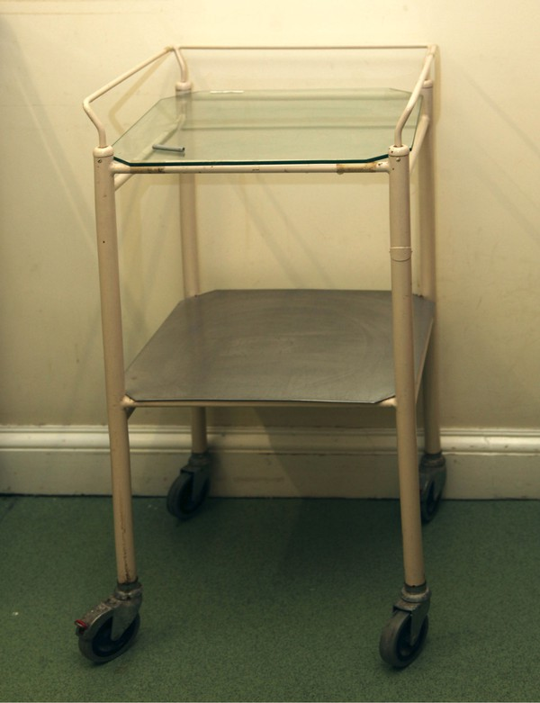 Vintage style medical trolley