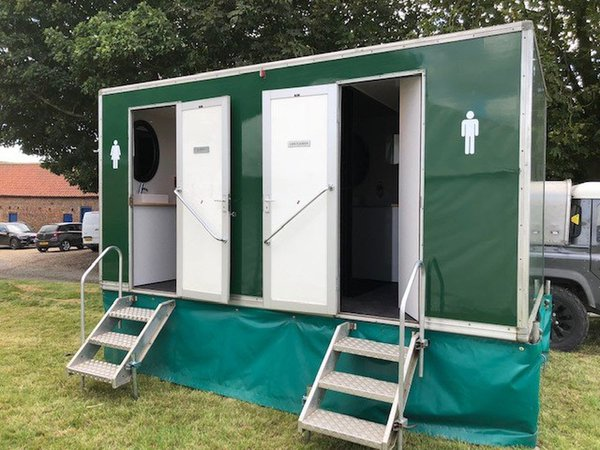 2 + 1 Green toilet trailer for sale