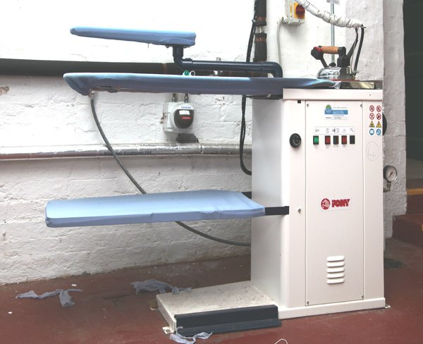Commercial ironing table