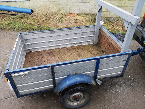 Wooden car trailer for sale