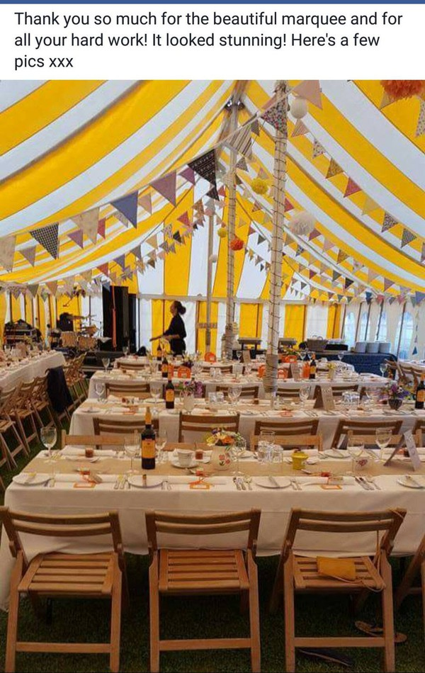 Traditional Marquee and equipment