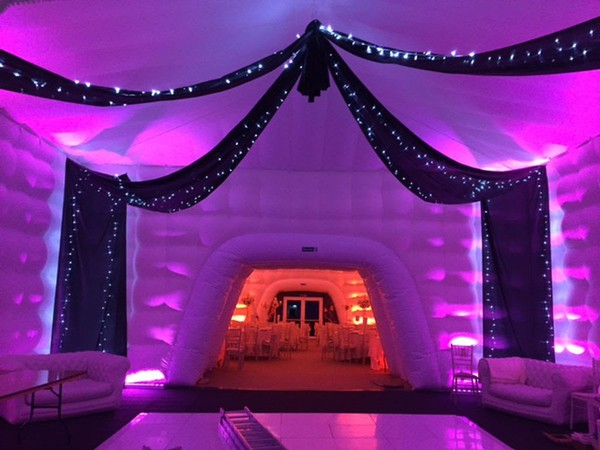 Inflatable marquee with dance floor