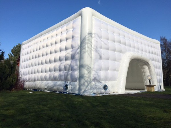 Inflatable white marquees