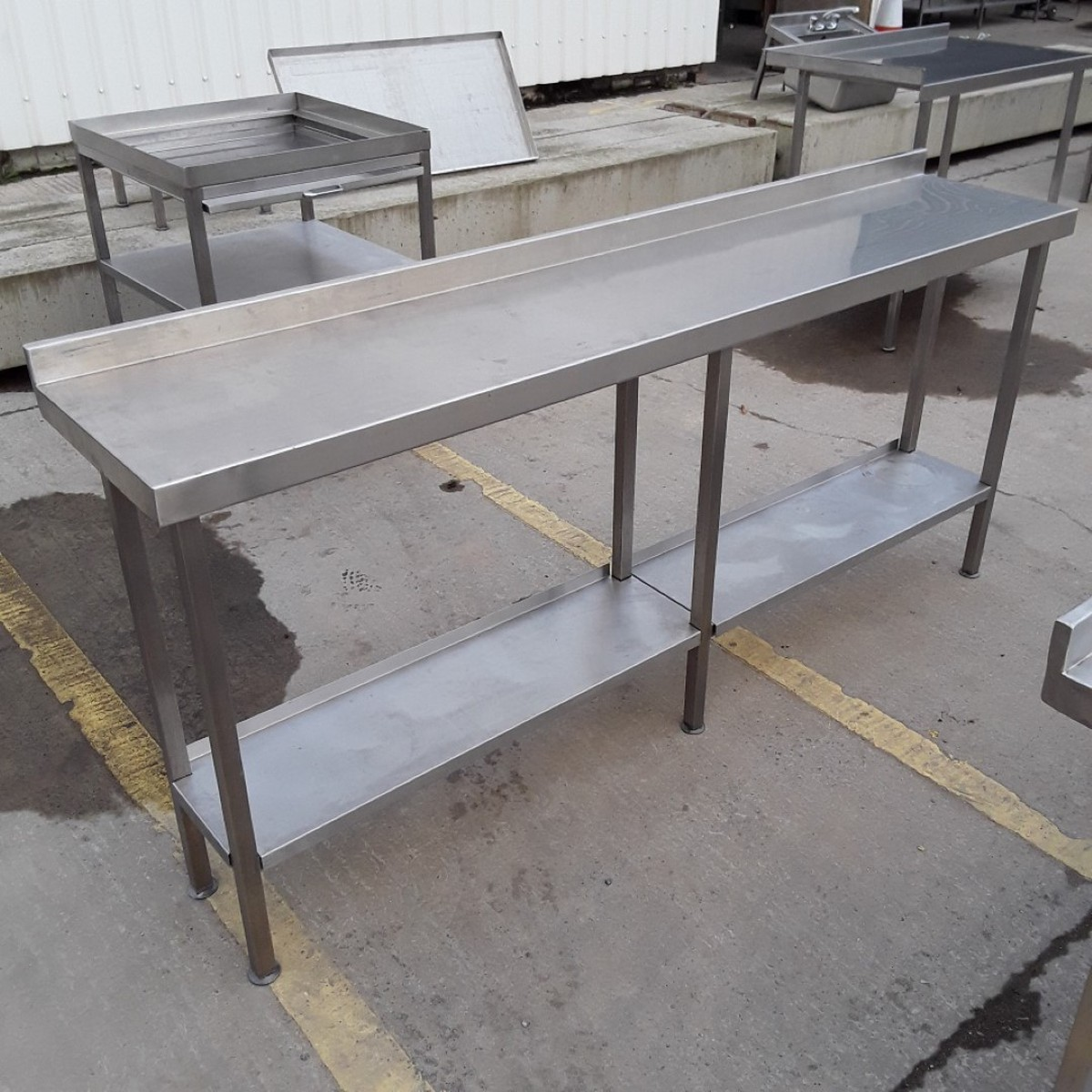 secondhand catering equipment stainless steel tables 1. Black Bedroom Furniture Sets. Home Design Ideas