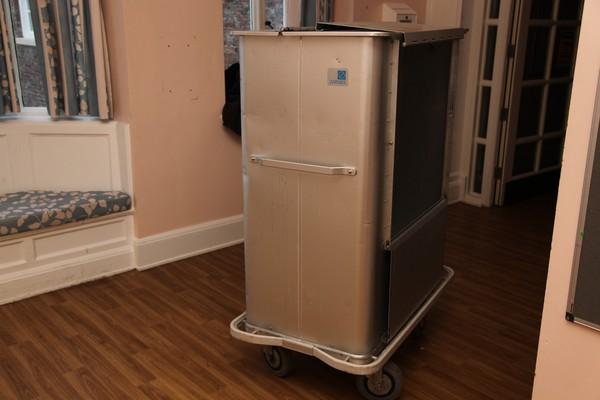 Hotel laundry trolley