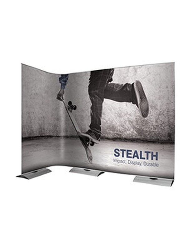Stealth pop up exhibition stand
