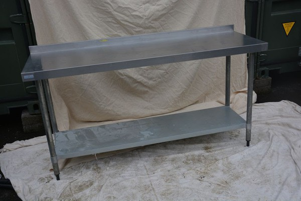 Vogue Stainless Steel Prep Bench 1.8m