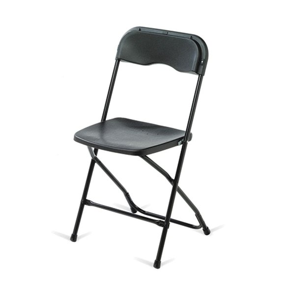 Folding black chairs for sale