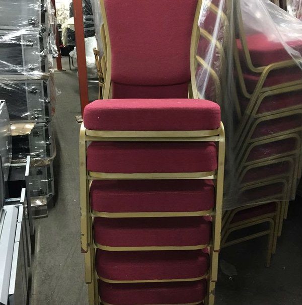 Stacking banqueting chairs