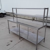 Used Stainless Steel Table Double Gantry	(7935)