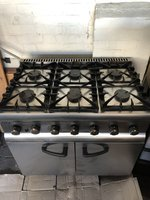 Six burner Lincat range cooker