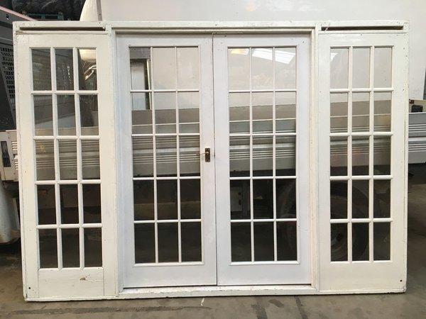 White marquee doors