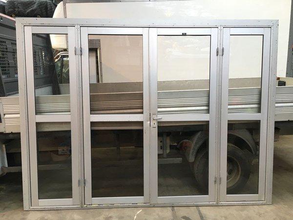 Aluminium marquee doors