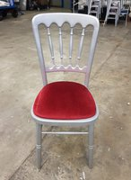 Silver Cheltenham Gilt Banqueting Chairs with burgundy seat pad