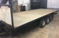 Tri Axle flat bed trailer