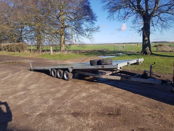 Used car transport trailer