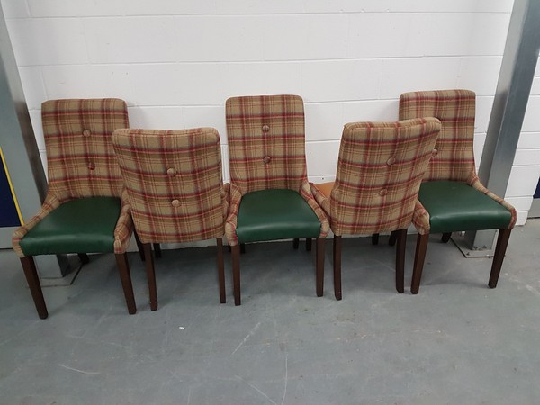 Leather and Tartan Chairs