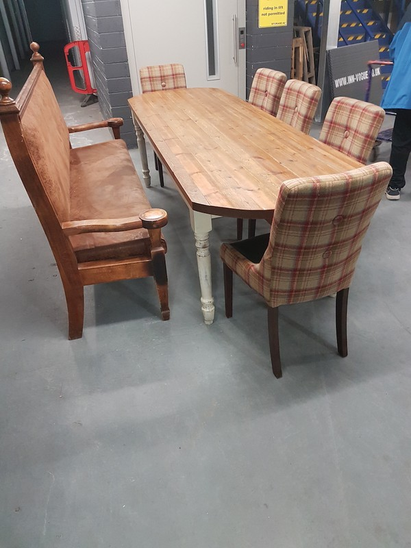 Leather and Tartan Dining Furniture