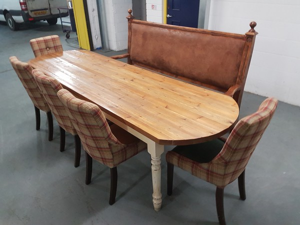 Unique set of furniture for a dining room / restaurant