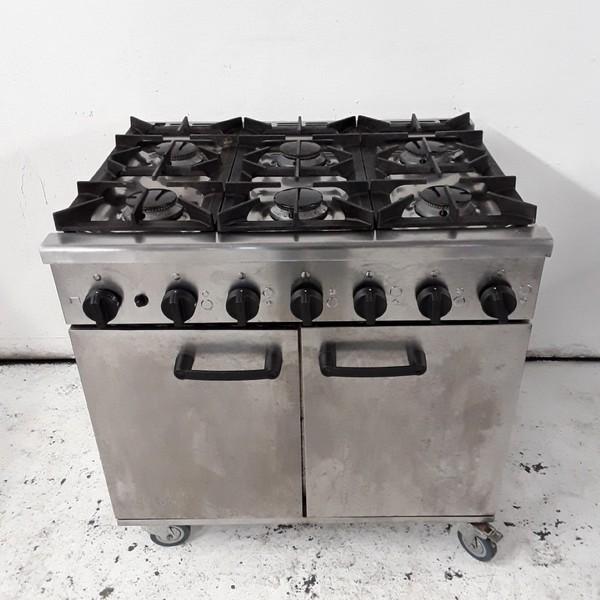 Used Burco Titan 90LP 6 Burner Range Cooker (8165)