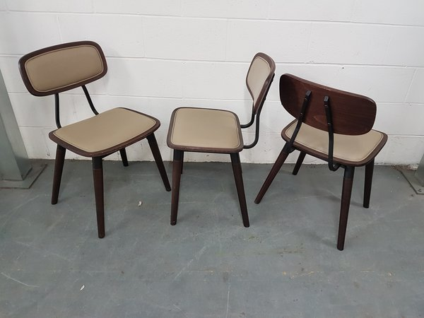Walnut wooden dining chairs
