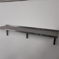 Used   Stainless Steel Wall Shelf	(8178)