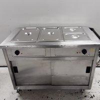 Used Lincat GBM3 Bain Marie Hot Cupboard Trolley (8187)