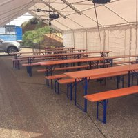 Job Lot folding beer festival table and bench sets