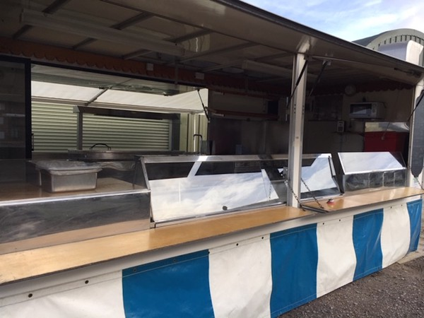 Second Hand 20 foot x 7 foot catering trailer
