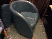 Grey tub chairs