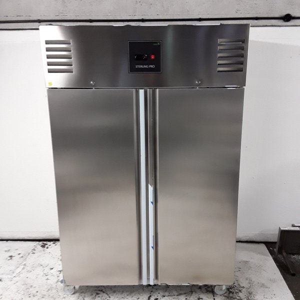Sterling Pro GSPI-142 Stainless Steel Double Upright Fridge