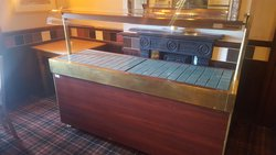 Tiled top carvery counter