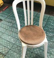 Round bistro chair pads for sale