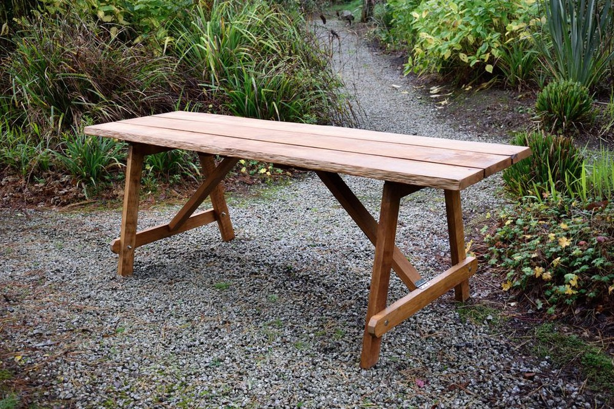 Secondhand Vintage And Reclaimed Tables Folding Trestles Chunky Rustic Tables And Benches Cornwall