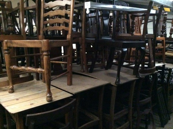 40's Vintage Style Dining Chair Frames