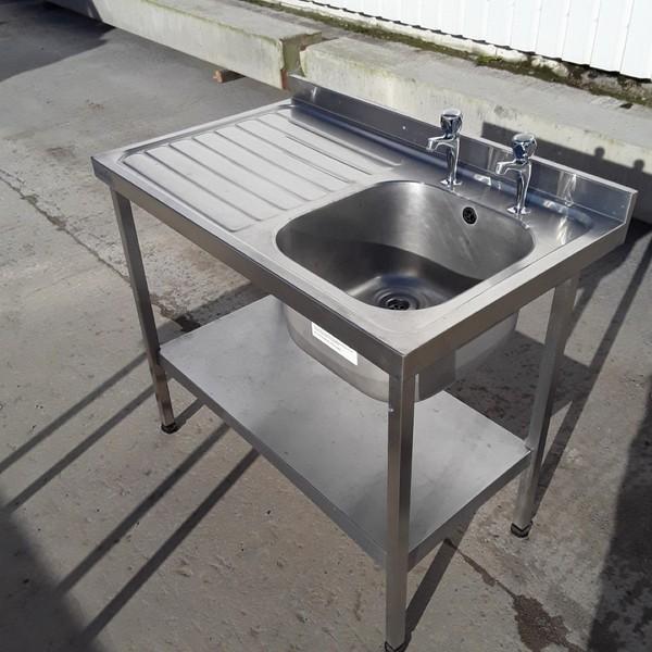 Used Sissons Stainless Steel Single Bowl Sink (8229)