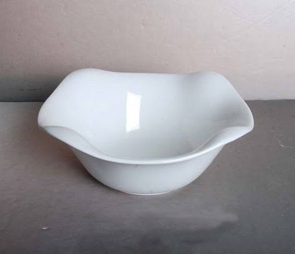 Porcelain fluted square bowl