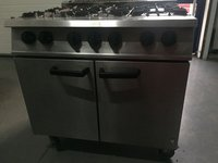 Six burner gas range cooker