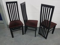 Black polished Beech frame dining chairs