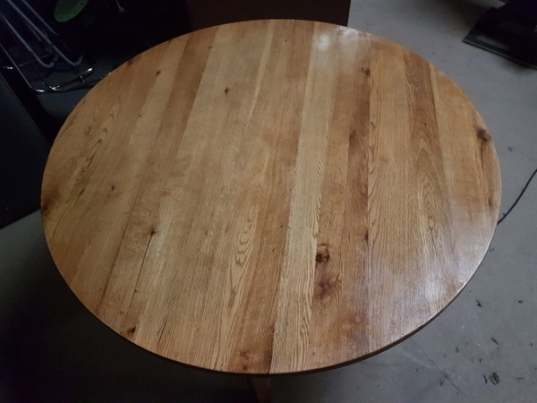 Solid Oak round dining tables