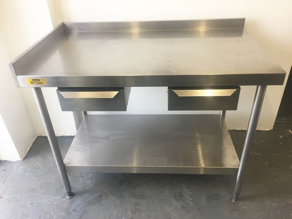 Bartlett B Line Stainless Steel Table with Drawers