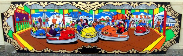 70's vintage bumper car sign